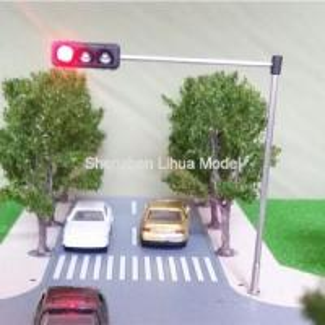 China model Mini Traffic Light,3 aspect signal metal lamppost,model three aspect signal lights,3headsmini traffic lampposts on sale