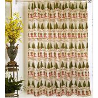 Best Christmas fabric shower curtains wholesale