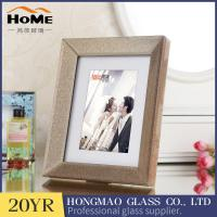 Quality 6 X 8 Opening Glitter Glass Photo Frame European Modern Style Free Standing for sale