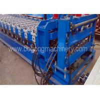Quality 3-4m / Min Speed Blue Roof Tile Forming Machine For Aluminum Sheet Using for sale