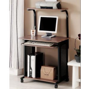 China Office Computer Workstation Desks Walnut , Modern Home Office Desk With Wheels DX-105H on sale