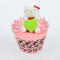 Quality Red Hollow Baby Shower Pearl Paper Cupcake Wrappers Personalized Eco - Friendly for sale