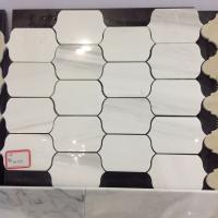 China White Marble Tile,Black Color Mosaic,Grey Marble Mosaic,Octagon Mosaic,Beige Marble Mosaic,Brick Design Mosaic on sale