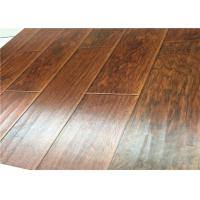 China Hand Scraped DIY Distressed Laminate flooring Mahogany Wood AC4 U Bevel on sale