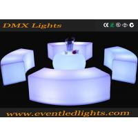 Best Plastic remote control Led Outdoor Furniture , Curved Bench Illuminated Chairs for bar club events wholesale