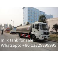 Buy cheap high quality Dongfeng tianjin 4*2 LHD12m3 fresh milk tank truck for sale, from wholesalers