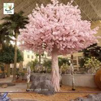 Best UVG indoor cherry blossom artificial tree with pink flowers for Water World decoration CHR153 wholesale