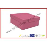 China Rigid Luxury Pink Gift Boxes Matt Lamination , jewelry gift boxes on sale