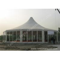 Quality Transparent Glass Wall and Glass Door Gazebo Canopy Tents White PVC Cover for sale