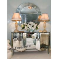 Venetian Style Mirrored Cabinet Table with Mirror Furniture Set