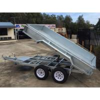 2000kg 10 X 5 Tandem Trailer / Galvanised Tipper Trailer With Checker Plate Rolled Body