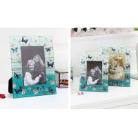 Quality 5x7 Glass Photo Frames / Personalized Glass Picture Frames Table Decoration for sale