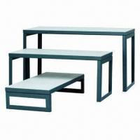 Quality Nesting Tables with White Melamine Faced Board, Steel Tube and CRS Sheets, Customized are Welcomed for sale