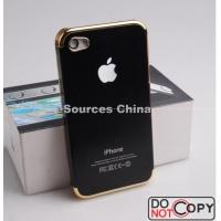 Best Durable Metal + Gold Frame Aluminum Waterproof Cell Phone Cases For IPhone4 / 4G / 4S wholesale