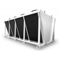 Quality Louvered 9.52mm Tube Air Condenser Cooler for Chemical for sale