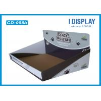 China Corrugated Cardboard Counter Top Display Stands Plush Toys Boxes on sale