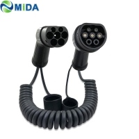 Quality IEC62893 Spring 16Amp Type 2 EV Charging Cable Plug Oil Resistance for sale