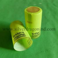 PVC shrink capsules with tear strip for alcohol