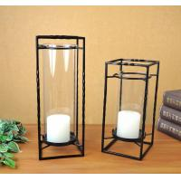 Quality cuboid metal candle holder set of two for home decoration for sale