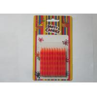 Best Special Orange Stripe Silk Screen Printing Party Pillar Candles for Birthday wholesale