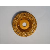 "Quality 5"" Tungsten Carbide Abrasive Disc Vacuum Brazed / Concrete Grinding Wheel for sale"