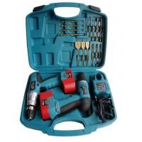China Portable 18pcs Twins Electric Cordless Drill Battery Power Screwdriver Set and Accessories on sale