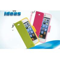 Quality Colorful Stand iphone 4 Cell Phone Leather Cases Soft PU Leather for sale