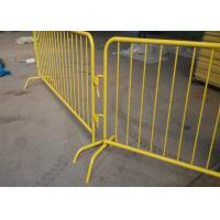 Quality Bridge Design 35mm outer tubing crowd control barriers 1090mm*2500mm upright 16mm hot dipped galvanized for sale