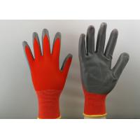 Quality 13 Gauge Nitrile Coated Gloves Super Light With Smooth Finished Nitrile for sale