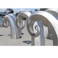 Public Art Large Metal Wave Sculpture , Outdoor Abstract Steel Sculpture