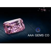 China Radiant Cut Colored Pink Moissanite For Decoration VVS1 In Clarity on sale