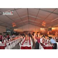 Quality Custom Big Outdoor Event Tents White Party Tents With Tables Chairs Wedding Tent for sale