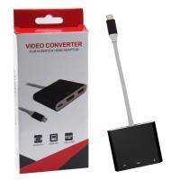 Quality New Product Video Converter For Nintendo Switch Console Adaptor USB Type-C to HDMI Connector for sale