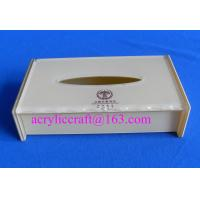 China High quality white acrylic tissue holder promotional napkin box made in China on sale