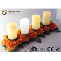 China Battery Operated Advent Candles , Flameless Candles With Remote on sale