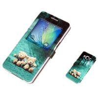 Buy cheap Cute PU Leather Samsung A7  Phone Covers with Stand and Cartoon Print from wholesalers