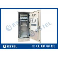 Quality Single Wall Stainless Steel 38U Outdoor Telecom Enclosure 750x700x2000 With DC Air Conditioner for sale