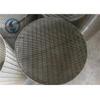 Quality Stainless Steel Johnson Water Filter Screen Pipe Slot Hole Shape for sale