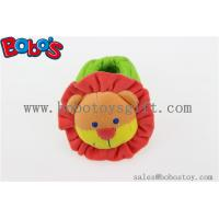 China Soft Short Plush Stuffed Lion Toy Baby Indoor Shoes with Rattle on sale
