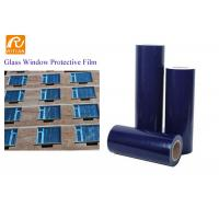 Quality Self Adhesive Blue PE Protective Film For Window Glass Temporary Protection for sale