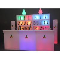 Best Hot sale Glow illuminated  glow Restaurant Bar Counter table with remote control change different colors wholesale