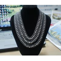 Best Graceful OEM /ODM mixed metal necklaces with rhinstones (Gold , silver, black , white) wholesale