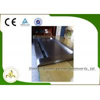 Quality Down Fume Exhaustion Front Air Supply  Sunken Air Inlet Rectangle Electric Teppanyaki Grill Table 7 Seats for sale