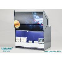 China Vivid Poster Acrylic Cigarette Display Cabinet With Built In Lighting on sale