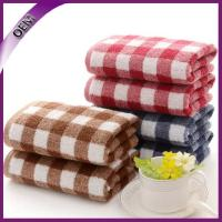Quality china supplier yarn dyed jacquard terry cotton hand towel for sale