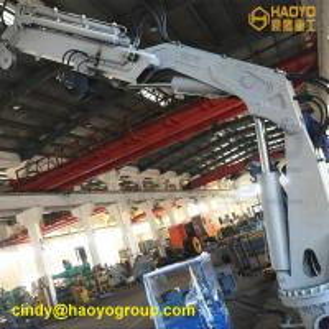 Quality China Foldable Telescopic Boom Pedestal Ship Crane Manufacturer Sales Marine Ship Deck Crane for sale