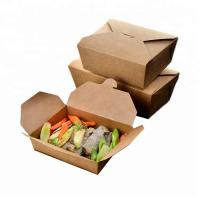 Brown Snack Cardboard Food Boxes , Cardboard Takeaway Food Boxes