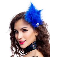 Quality Polyester Dance Costumes Accessories Colored Fabulous Feather Headpiece for sale