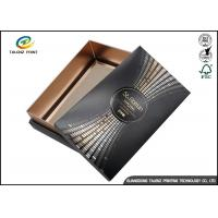 Quality Wine Gift Packaging Cardboard Paper Drawer Box Black Customizable for sale