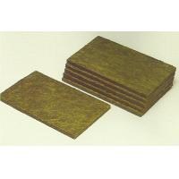 China High Temperature Resistant Rockwool Fire Insulation Wall Panel 600mm Width on sale